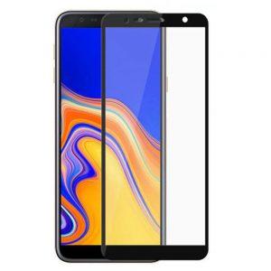 Защитное стекло 2.5D (3D) Full Cover на весь экран для Samsung Galaxy J6 Plus 2018 (J610) – Black
