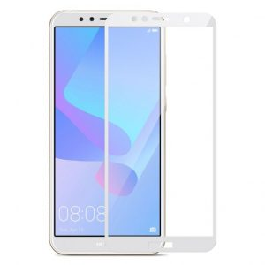 Защитное стекло 3D (5D) Perfect Glass Full Glue Lion на весь экран для Huawei Y6 / Y6 Prime 2018 / Honor 7A Pro / 7C – Black – White
