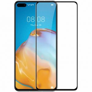 Защитное стекло 3D (5D) Perfect Glass Full Glue Ipaky на весь экран для Huawei P40 – Black
