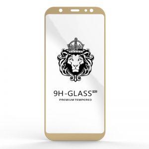 Защитное стекло 3D (5D) Perfect Glass Full Glue Lion на весь экран для Samsung Galaxy A6 Plus 2018 (A605) – Gold