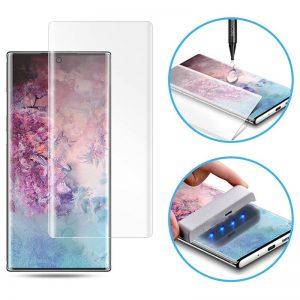 Защитное стекло 3D / 5D UV Mocolo с УФ лампой для Samsung Galaxy Note 10 Plus (N975) – Clear