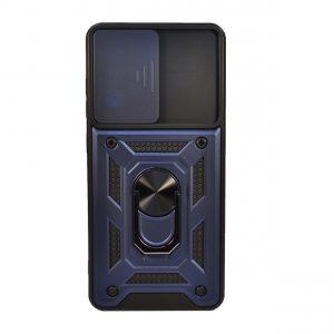 Ударопрочный чехол Camshield Serge Ring со шторкой для камеры для Samsung Galaxy A02s – Синий