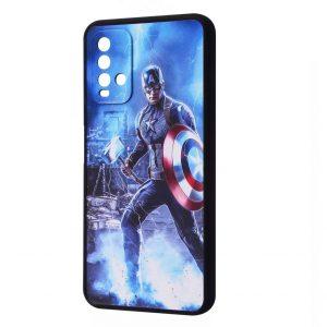 Чехол TPU+PC Game Heroes Case для Xiaomi Mi 11 Lite / 11 Lite 5G NE – Captain america