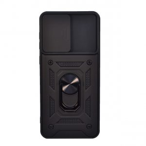 Ударопрочный чехол Camshield Serge Ring со шторкой для камеры для Samsung Galaxy A02s – Черный
