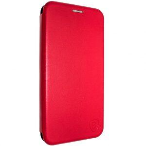 Кожаный чехол-книжка 360 с визитницей для Xiaomi Redmi 4x – Красный