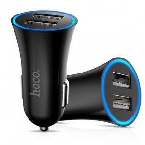 Автомобильное зарядное устройство Hoco UC204 (2USB / 2.4A) – Black