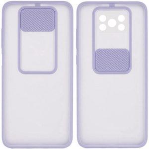 Чехол Camshield mate TPU со шторкой для камеры для Xiaomi Poco X3 NFC / Poco X3 Pro – Сиреневый