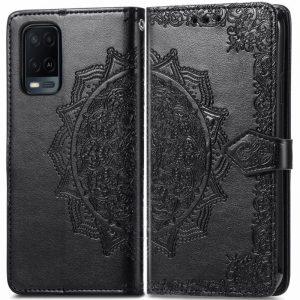 Кожаный чехол-книжка Art Case с визитницей для Oppo A54 – Черный