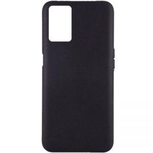 Матовый силиконовый TPU чехол для Oppo A54 – Черный