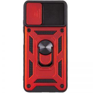 Ударопрочный чехол Camshield Serge Ring со шторкой для камеры для Samsung Galaxy A32 – Красный