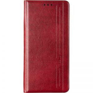 Кожаный чехол-книжка Leather Gelius New для Samsung Galaxy A03s (A037) – Red