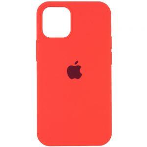 Оригинальный чехол Silicone Cover 360 с микрофиброй для Iphone 13 Pro – Арбузный / Watermelon red