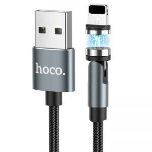 Кабель Hoco U94 Universal magnetic Lightning 2.4A (1.2м) – Black