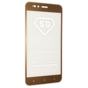 Защитное стекло 5D Full Glue Cover Glass на весь экран для Xiaomi Mi 5x / Mi A1 – Gold