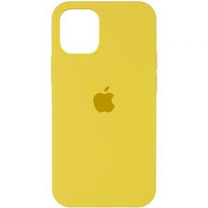 Оригинальный чехол Silicone Cover 360 с микрофиброй для Iphone 13 Pro – Желтый / Yellow