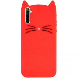 Силиконовый чехол 3D Cat для Realme 6 – Красный