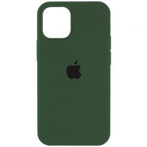 Оригинальный чехол Silicone Cover 360 с микрофиброй для Iphone 13 Pro – Зеленый / Army green