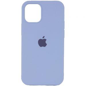 Оригинальный чехол Silicone Cover 360 с микрофиброй для Iphone 13 Pro – Голубой / Lilac Blue