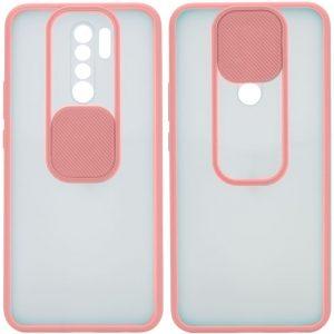 Чехол Camshield mate TPU со шторкой для камеры для Xiaomi Redmi Note 8 Pro – Розовый