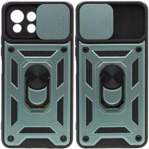 Ударопрочный чехол Camshield Serge Ring со шторкой для камеры для Xiaomi Mi 11 Lite – Зеленый