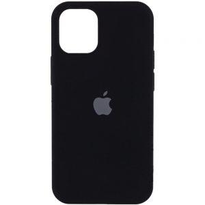 Оригинальный чехол Silicone Cover 360 с микрофиброй для Iphone 13 Pro – Черный / Black