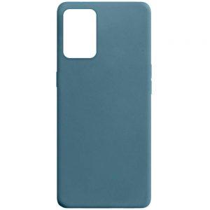 Матовый силиконовый TPU чехол для Oppo A54 – Синий / Powder Blue