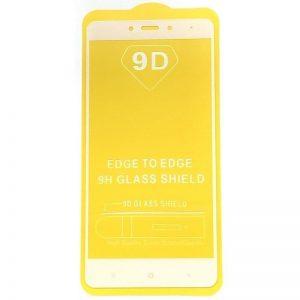 Защитное стекло 9D Full Glue Cover Glass на весь экран для Xiaomi Redmi Note 4 (Mediatek) – White