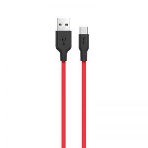 Кабель Hoco X21 Silicone Type-C  2A (1м) – Black / Red
