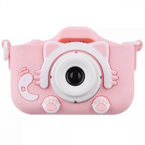 Детский фотоаппарат Baby Photo Camera Cartoon Cat – Pink
