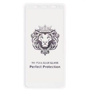 Защитное стекло 3D (5D) Perfect Glass Full Glue Lion на весь экран для Xiaomi Redmi 5 Plus / Redmi Note 5 / 5 Pro – White