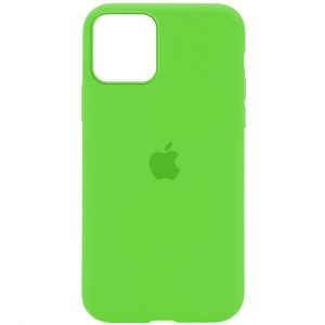 Оригинальный чехол Silicone Cover 360 с микрофиброй для Iphone 13 Pro – Зеленый / Green