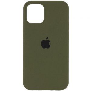 Оригинальный чехол Silicone Cover 360 с микрофиброй для Iphone 13 Pro – Зеленый / Dark Olive