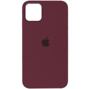 Оригинальный чехол Silicone Cover 360 с микрофиброй для Iphone 13 Pro – Бордовый / Plum