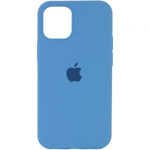 Оригинальный чехол Silicone Cover 360 с микрофиброй для Iphone 13 Pro – Голубой / Cornflower