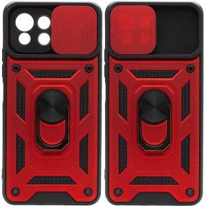 Ударопрочный чехол Camshield Serge Ring со шторкой для камеры для Xiaomi Mi 11 Lite – Красный