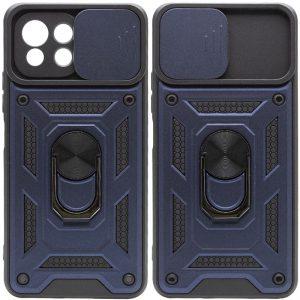 Ударопрочный чехол Camshield Serge Ring со шторкой для камеры для Xiaomi Mi 11 Lite – Синий