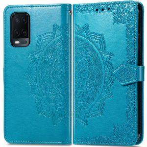 Кожаный чехол-книжка Art Case с визитницей для Oppo A54 – Синий