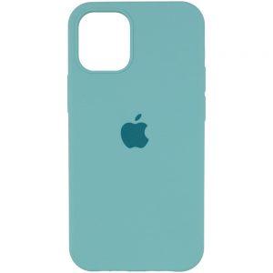 Оригинальный чехол Silicone Cover 360 с микрофиброй для Iphone 13 Pro – Бирюзовый / Marine Green